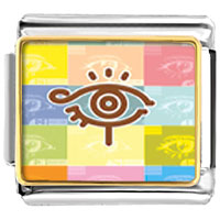 Items from KS - eye symbol italian charms bracelet link photo italian charm Image.