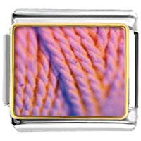 Italian Charms - pink yarn italian charms bracelet link photo italian charm Image.