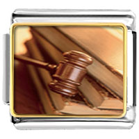 Items from KS - law gavel italian charms bracelet link photo italian charm Image.