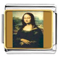 Italian Charms - da vinci' s art mona lisa italian charm bracelet photo italian charm Image.