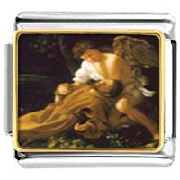 Italian Charms - bracelet caravaggio' s stigma religious italian charms link photo italian charm Image.