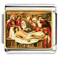 Italian Charms - bracelet the entombment of christ religious italian charms link photo italian charm Image.
