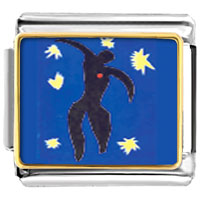 "Italian Charms - icarus from "" jazz""  italian charms bracelet link photo italian charm Image."