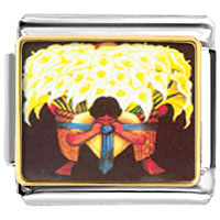 Italian Charms - diego rivera' s el vendedor de alcatraces animals italian charms bracelet link photo italian charm Image.