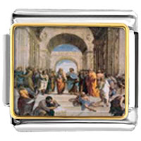 Italian Charms - raphael' s school of athens italian charms bracelet link photo italian charm Image.