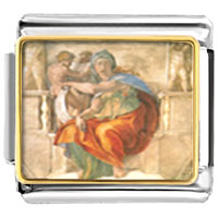 Italian Charms - michelangelo' s art delphic sibyl italian charms bracelet link photo italian charm Image.