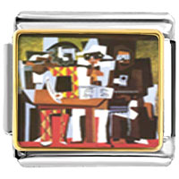 Italian Charms - picasso' s three musicians italian charms bracelet link photo italian charm Image.