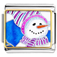 Italian Charms - gifts striped hat christmas gifts snowman italian charms bracelet link photo italian charm Image.