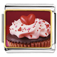 Italian Charms - chocolate cupcake love italian charm bracelet photo italian charm Image.