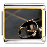 Italian Charms - golden italian charm bracelet wedding bands photo italian charm Image.
