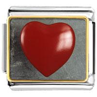Italian Charms - red heart photo italian charm bracelet Image.