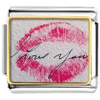 Italian Charms - i love you kiss italian charm bracelet photo italian charm Image.