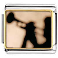Italian Charms - trumpet music silhouette musical italian charms bracelet link photo italian charm Image.