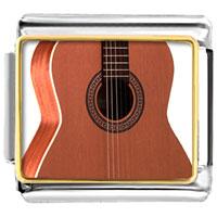 Italian Charms - classic guitar musical italian charms bracelet link photo italian charm Image.