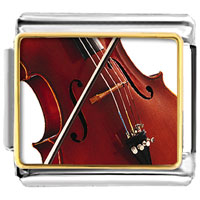Italian Charms - classical music violin musical italian charms bracelet link photo italian charm Image.