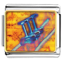 Italian Charms - trumpet sheet music musical italian charms bracelet link photo italian charm Image.