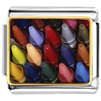 Italian Charms - crayons for children italian charms bracelet link photo italian charm Image.