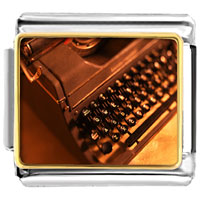 Italian Charms - book writer' s typewriter italian charms bracelet link photo italian charm Image.