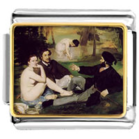 Italian Charms - manet luncheon on grass art italian charms bracelet link photo italian charm Image.