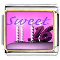 Italian Charms - pink sweet sixteen italian charms bracelet link photo italian charm Image.