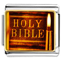 Items from KS - bracelet leather bound holy bible religious italian charms link photo italian charm Image.