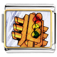 Items from KS - city traffic light italian charms bracelet link photo italian charm Image.