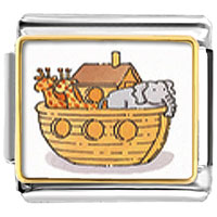 Items from KS - bracelet noah' s ark and animals photo religious italian charms link photo italian charm Image.