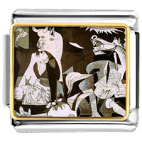 Italian Charms - picasso guernica art italian charms bracelet link photo italian charm Image.