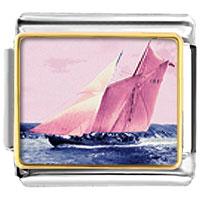 Italian Charms - sail boat italian charms bracelet link photo italian charm Image.