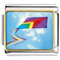 Italian Charms - flying a kite italian charms bracelet link photo italian charm Image.