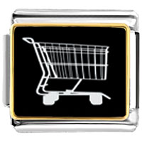 Italian Charms - shopping cart food italian charms bracelet link photo italian charm Image.