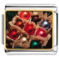 Italian Charms - christmas ornament balls italian charms bracelet link photo italian charm Image.