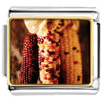 Italian Charms - thanksgiving indian corn italian charms bracelet link photo italian charm Image.