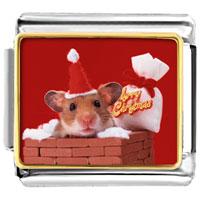 Italian Charms - santa claus christmas gift mouse italian charms bracelet link photo italian charm Image.