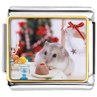 Italian Charms - mouse christmas party italian charms bracelet link photo italian charm Image.