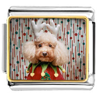 Italian Charms - christmas jester dog italian charms bracelet link photo italian charm Image.