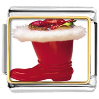 Italian Charms - christmas ornament boot italian charms bracelet link photo italian charm Image.