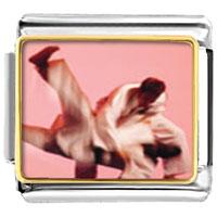 Italian Charms - martial art sports italian charms bracelet link photo italian charm Image.