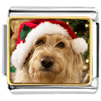 Italian Charms - santa claus christmas gift golden retriever italian charms bracelet link photo italian charm Image.