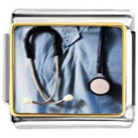 Italian Charms - heart stethoscope photo italian charm bracelet Image.