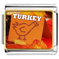 Italian Charms - turkey card italian charms bracelet link photo italian charm Image.