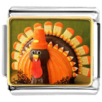 Italian Charms - halloween thanksgiving candy turkey italian charms bracelet link photo italian charm Image.