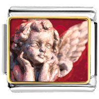 Items from KS - bracelet gazing cherub angel italian charms photo italian charm Image.