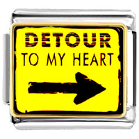 Italian Charms - detour to my heart italian charm bracelet photo italian charm Image.