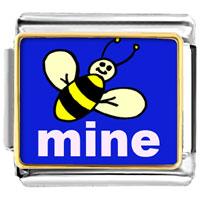 Italian Charms - bee photo italian charm Image.