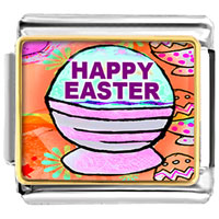 Items from KS - happy easter basket italian charms bracelet link photo italian charm Image.