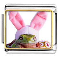 Items from KS - animal photo easter bunny frog italian charms bracelet link photo italian charm Image.