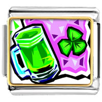 Items from KS - green beer photo italian charm Image.