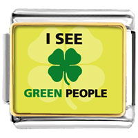 Italian Charms - i see green people italian charms bracelet link photo italian charm Image.