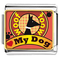 Italian Charms - love my dog italian charms photo italian charm Image.